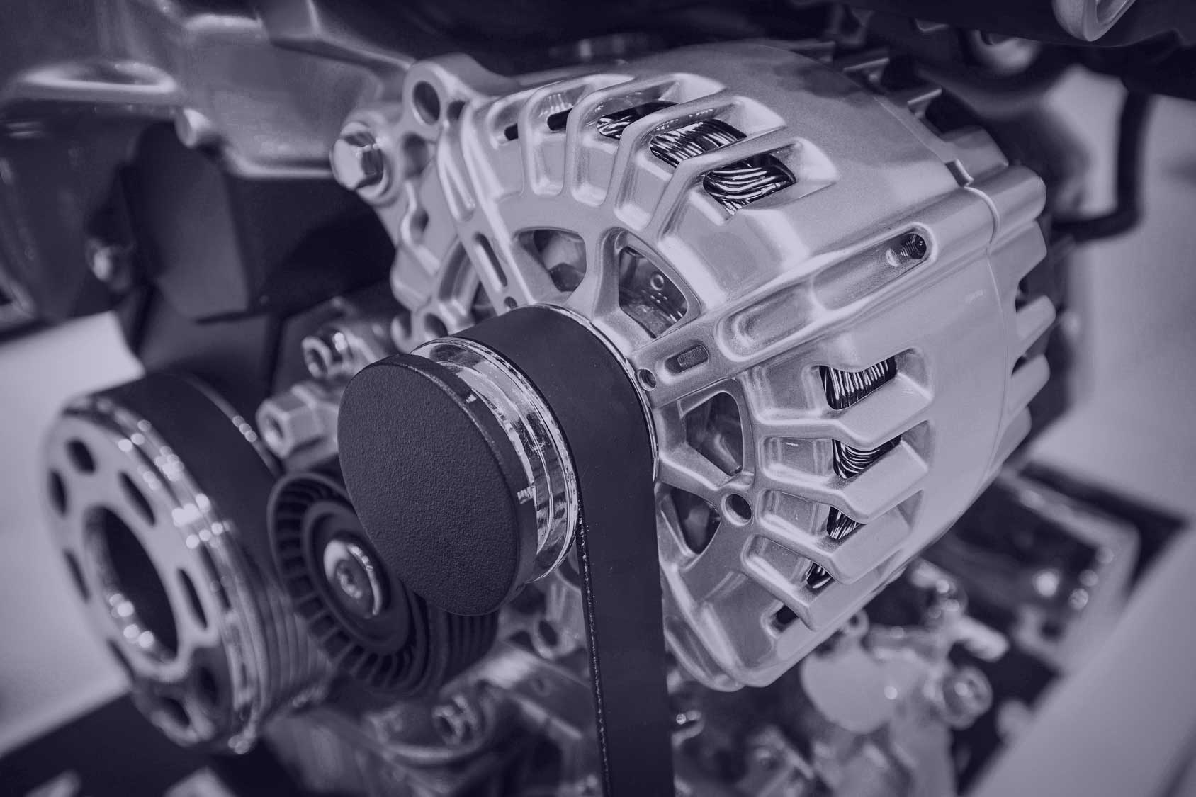 Part of car's engine